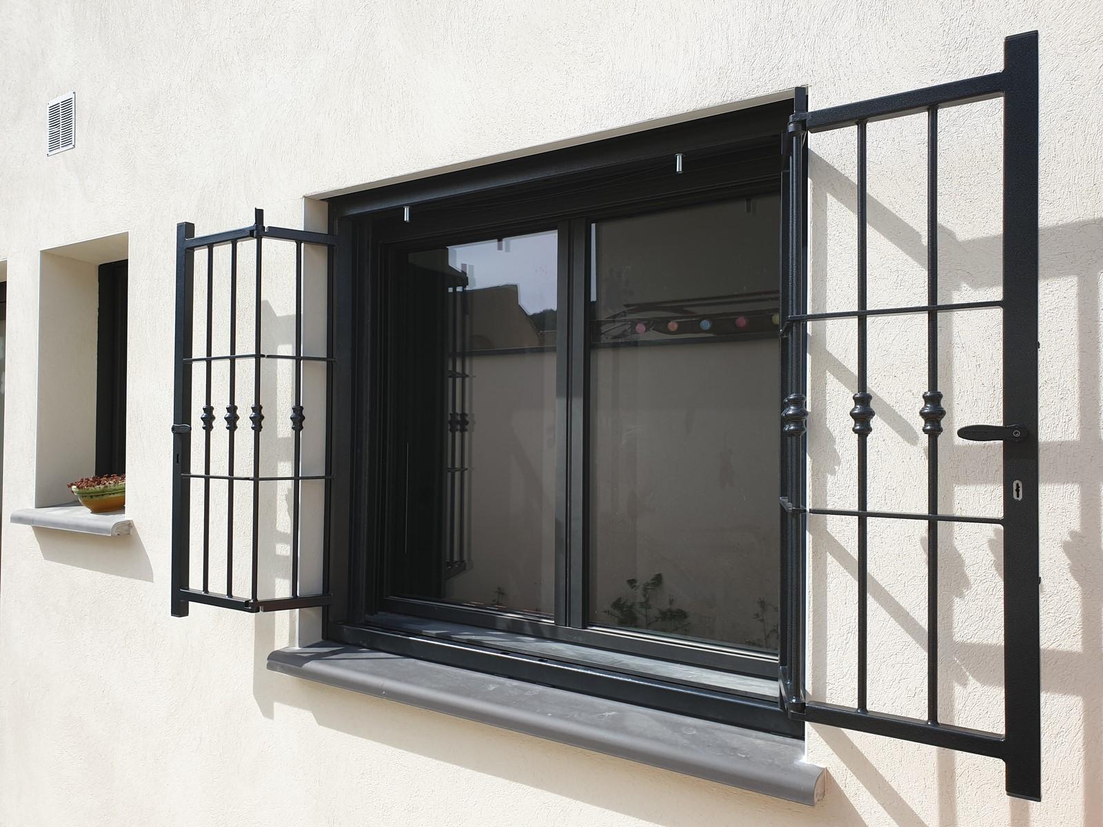 Barres de Fenêtre Grille Protection contre le Cambriolage Extensible